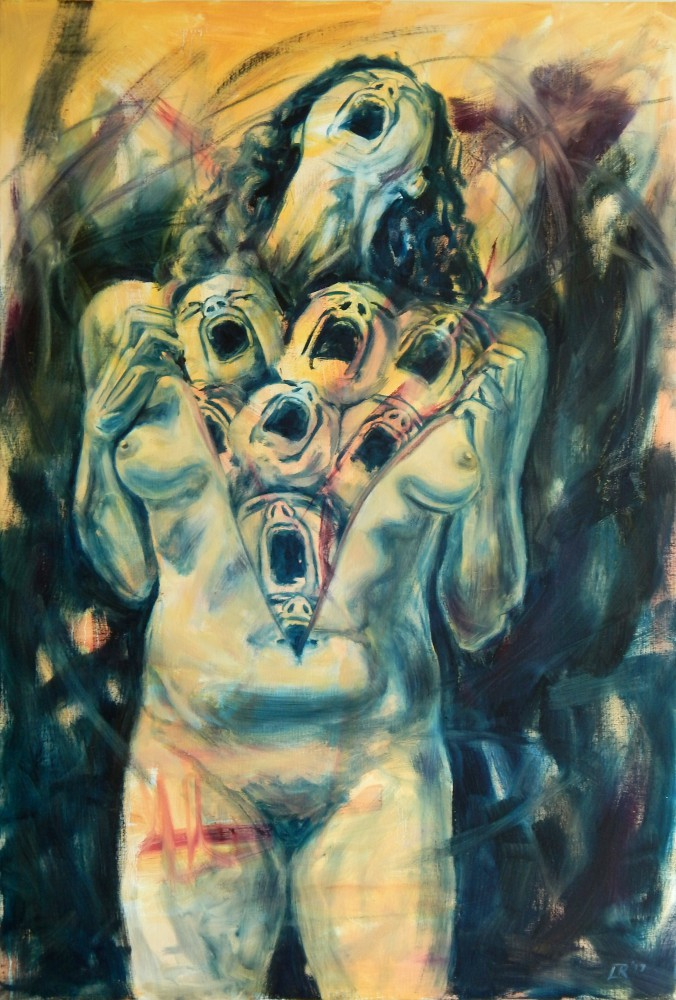 Det Indre Skrig The Inner Scream Oil on Canvas 2017